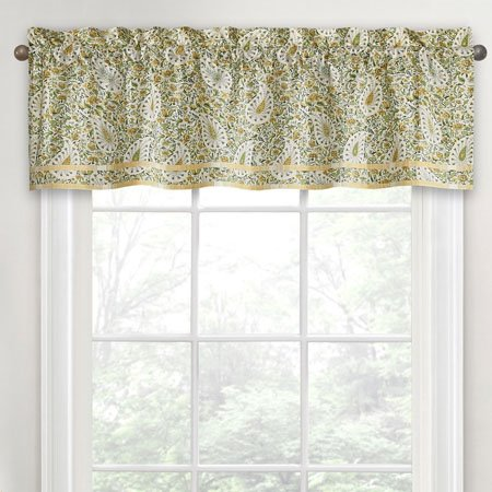 Waverly Paisley Verveine Window Valance P C Fallon Co