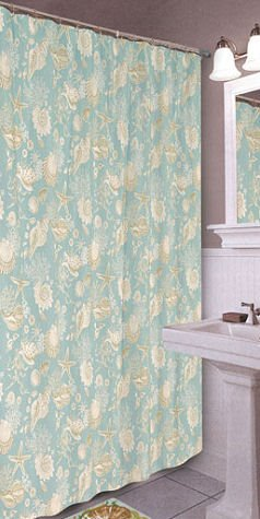 Yellow Print Shower Curtain Natural Shells Throw