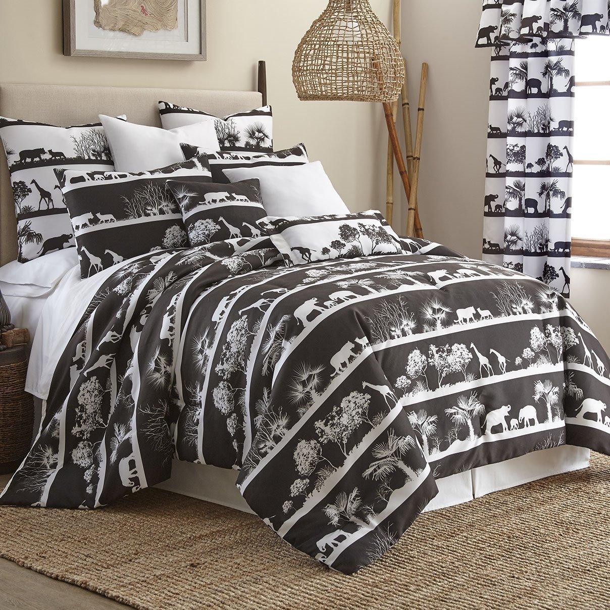 African Safari Comforter Set Queen Size By Colcha Linens
