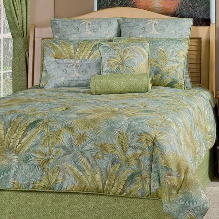 bahamian surf california king size 4 piece comforter set by victor
