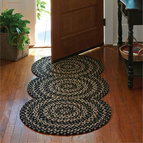 Washable Primitive Rugs: Kendrick Braided Rug Runner 30x72 By Park Designs