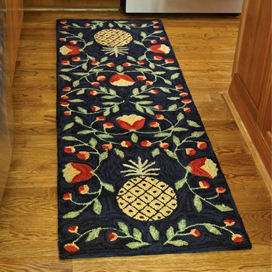 Pineapple Hooked Rug Runner 24x72 By Park Designs