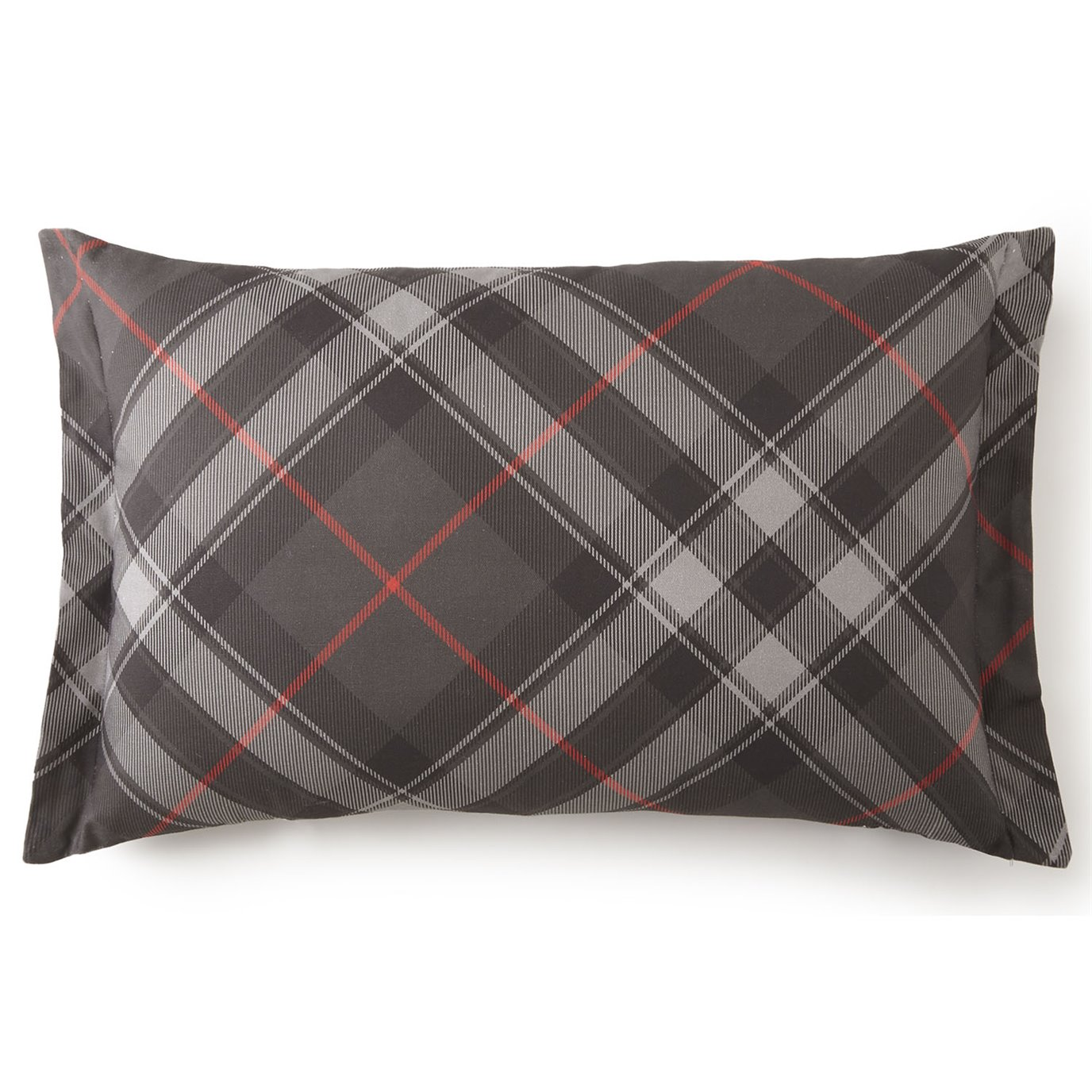 Long Rectangular Decorative Pillows : Poppy Plaid Long Rectangle Pillow - Plaid Fabric by Colcha Linens PC Fallon Co