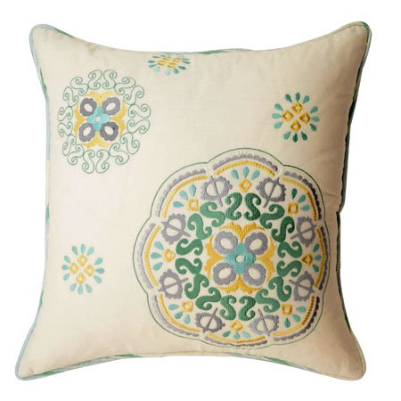 Waverly Astrid Square Embroidered Decorative Pillow PC Fallon Co Cool Waverly Decorative Pillows