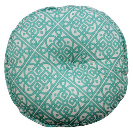 Tufted Round Decorative Pillow : Waverly Modern Poetic Round Button-Tufted Decorative Pillow PC Fallon Co