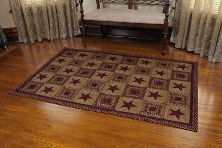 Country Star Wine Rectangular 5 X 8 Braided Rug By Ihf