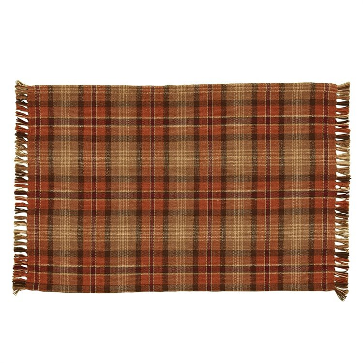 Gather Together Plaid Woven Placemat Pc Fallon