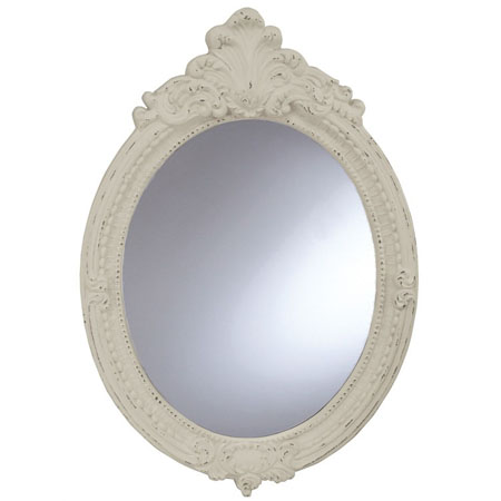 oval baroque resin mirror by split p