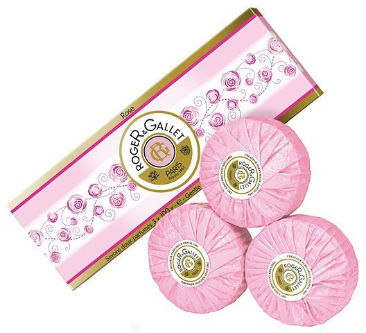 Rose Gentle Perfumed Soaps Box of Three (3 x 3.5 oz.)