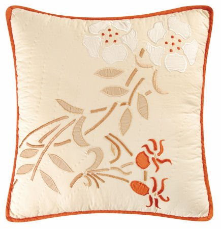 Cherry Blossom Embroidered Pillow