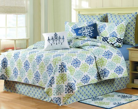 Shabby Chic Blue King Quilt