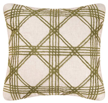 Barbados Sand Lattice Hooked Pillow