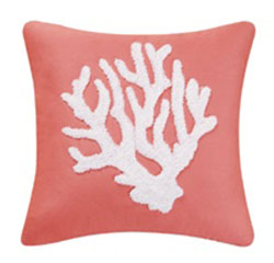 St. Lucia Starfish Coral Hooked Pillow