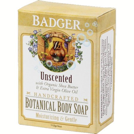 Badger Unscented Botanical Body Soap (4 oz bar)