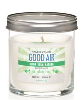 Yankee Candle Just Plain Fresh Good Air Odor Eliminating Scented Candle