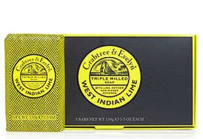 Crabtree & Evelyn West Indian Lime Soap (3 bars x 5.3 oz., 150g)