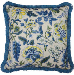 Imperial Dress Porcelain Waverly Pillow with Fringe