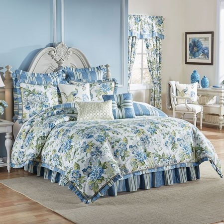 Waverly Floral Engagement King 4 Piece Bedding Collection