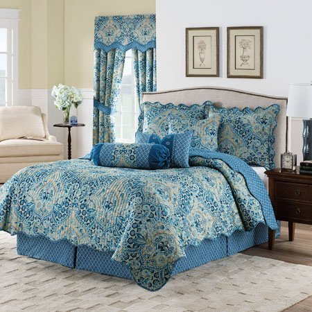 Waverly Moonlit Shadows Twin 3-Piece Reversible Quilt Collection