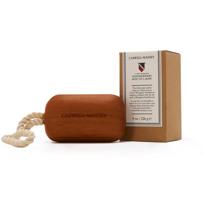Caswell-Massey Sandalwood Woodgrain Soap on a Rope (8 oz)