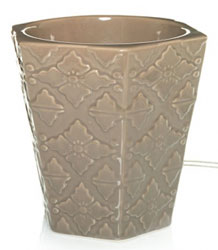 Yankee Candle Sepia Leela Ceramic Electric Scenterpiece Easy MeltCup Warmer