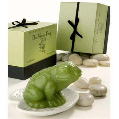 Gianna Rose Magic Frog Soap on Lily Pad Dish
