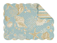 Natural Shells Rectangular Quilted Placemat