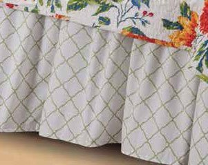 White Lattice King Bedskirt