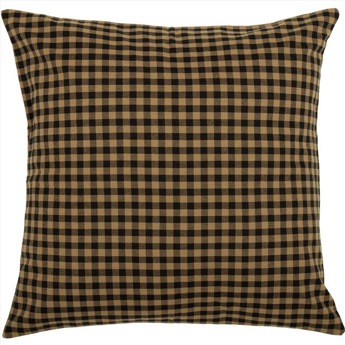 Black Check Fabric Euro Sham