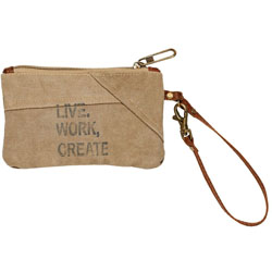 Mona B. Live Work Create Small Pouch