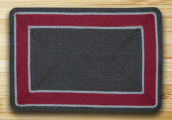 Graphite & Burgundy In The City Rectangle Rug 20