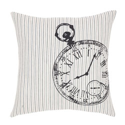 Ashmont Clock Fabric Pillow