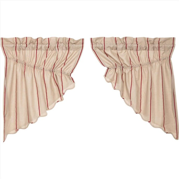 Charlotte Rouge Scalloped Prairie Swag Set of 2 63 x 36 x 18