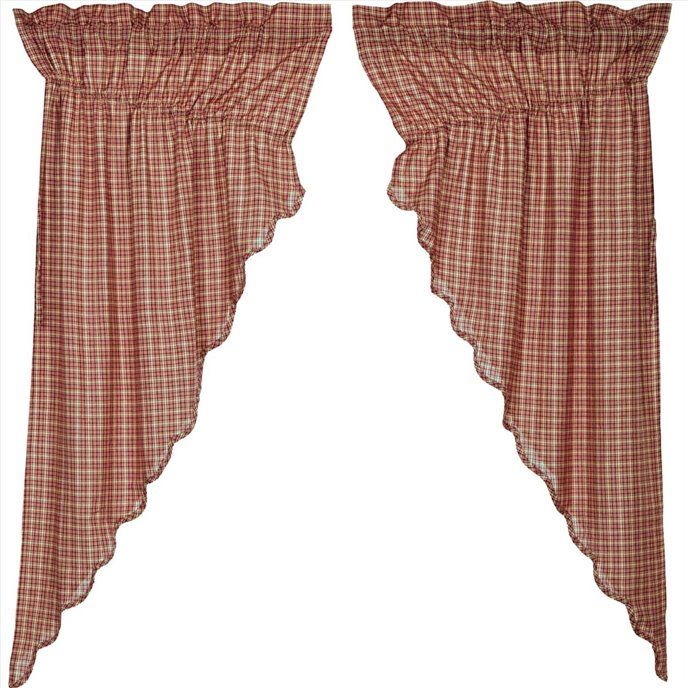Independence Scalloped Prairie Curtain Set of 2 63 x 36