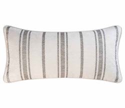 Clementina Cement Chain Stitch Pillow