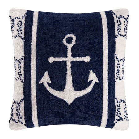 Sailor's Bay Hooked Pillow