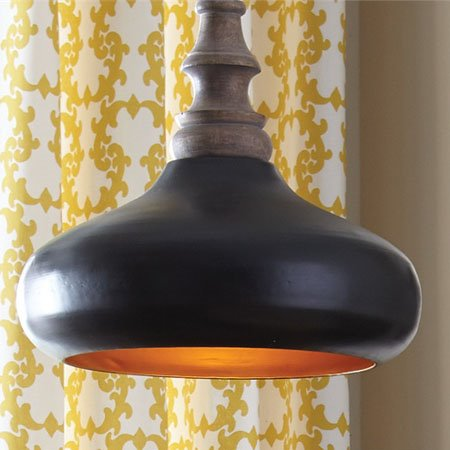 Black And Gold Metal Pendant Light