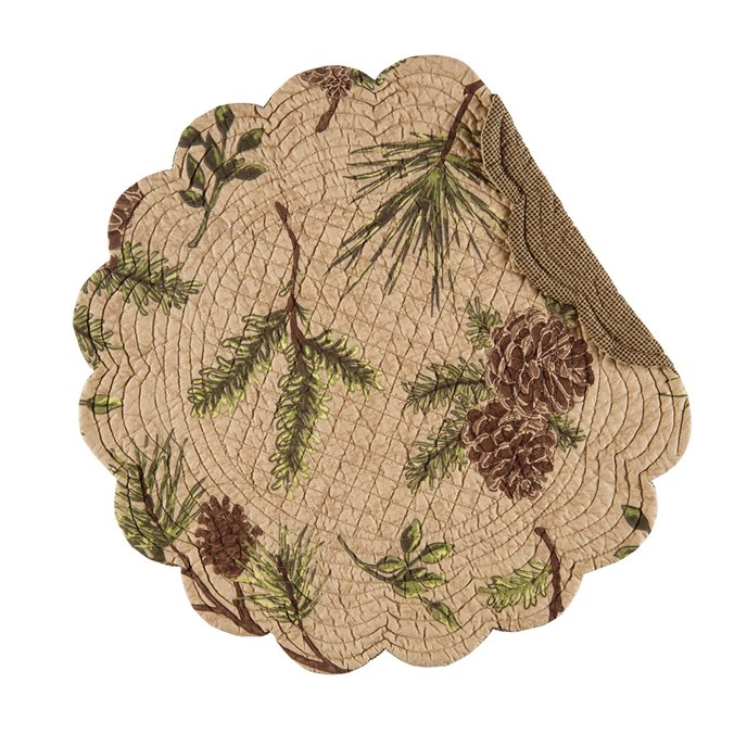 Woodland Retreat Round Quilted Placemat
