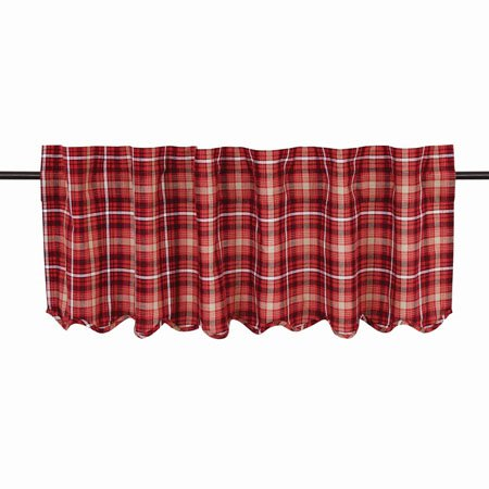 Braxton Scalloped Valance Lined 16x60