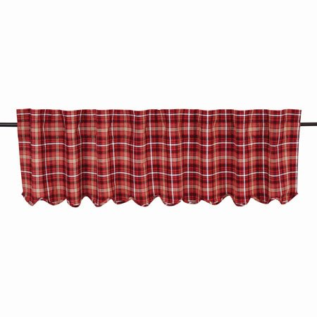 Braxton Scalloped Valance Lined 16x72