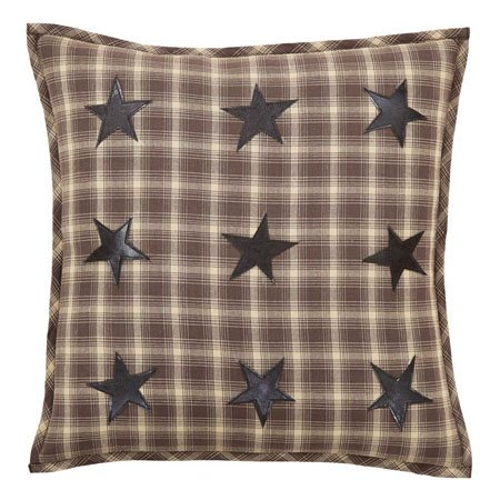 Dawson Star Applique Pillow W/Down Fill 18x18