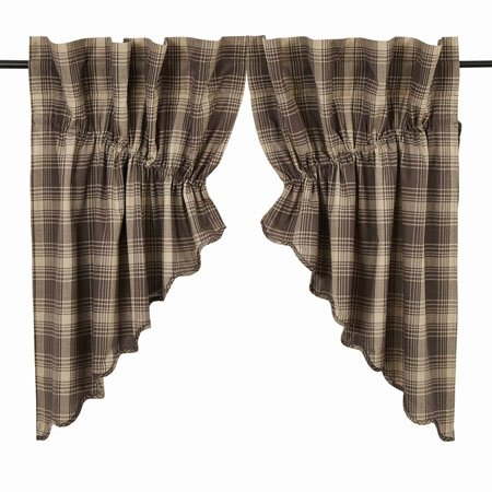 Dawson Star Scalloped Prairie Swag Lined Set of 2 36x36x18
