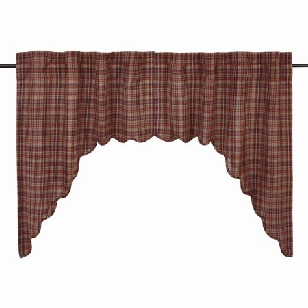 Parker Scalloped Swag Lined Set of 2 36x36x16