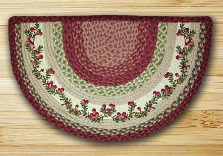 Cranberries Braided and Printed Slice Rug 18