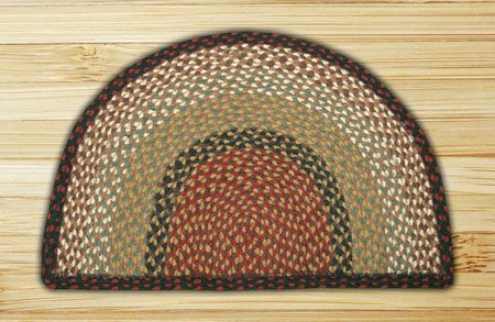 Burgundy & Mustard Small Rug Slice 18