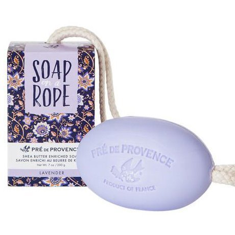 Pre de Provence Lavender Shea Butter Enriched Vegetable Soap on a Rope 200 g