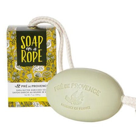 Pre de Provence Sage Shea Butter Enriched Vegetable Soap on a Rope 200 g