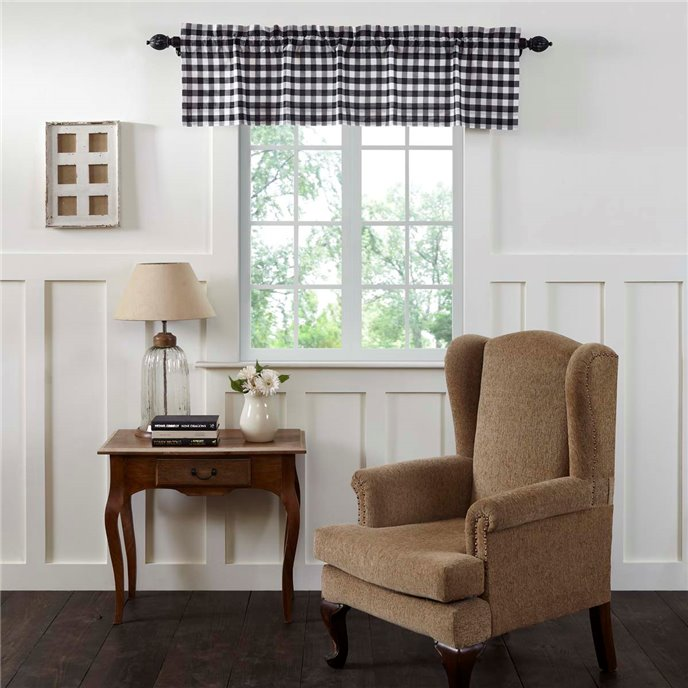 Annie Buffalo Black Check Valance 16x60