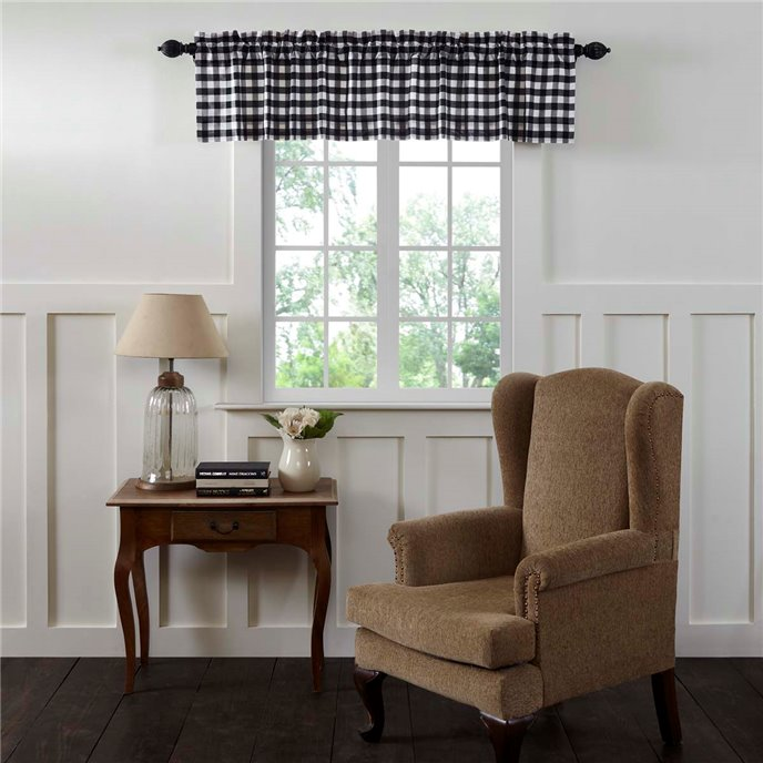 Annie Buffalo Black Check Valance 16x72