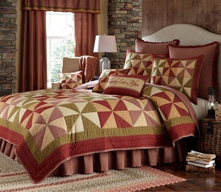 Mill Village King 3 Piece Quilt set